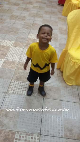 Aniversariante Festa Infantil Snoopy do Pedro