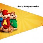 Bandeirinha Sanduiche 2 Alvin e os Esquilos