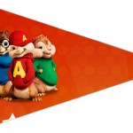Bandeirinha Sanduiche 3 Alvin e os Esquilos