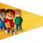 Bandeirinha Sanduiche 3 Alvin e os Esquilos Desenho