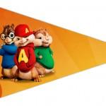 Bandeirinha Sanduiche 4 Alvin e os Esquilos