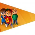Bandeirinha Sanduiche 4 Alvin e os Esquilos Desenho