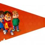 Bandeirinha Sanduiche 5 Alvin e os Esquilos Desenho