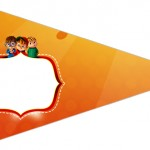 Bandeirinha Sanduiche 6 Alvin e os Esquilos Desenho