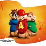 Bandeirinha Sanduiche Alvin e os Esquilos