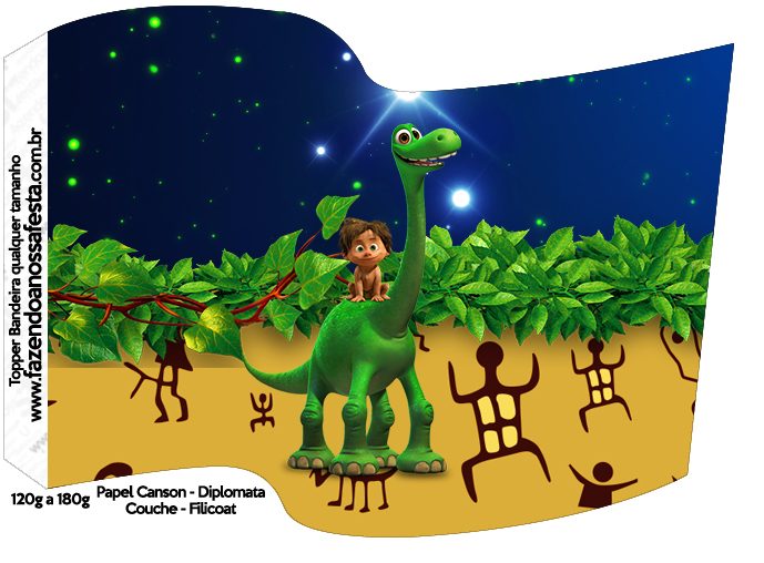 Bandeirinha Sanduiche O Bom Dinossauro