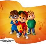 Bandeirinha Varalzinho 2 Alvin e os Esquilos Desenho