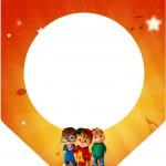 Bandeirinha Varalzinho Alvin e os Esquilos Desenho