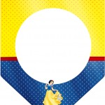 Bandeirinha Varalzinho Festa Branca de Neve