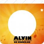 Bandeirinha Varalzinho Quadrada Alvin e os Esquilos Desenho
