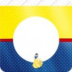 Bandeirinha Varalzinho Quadrada Kit Festa Branca de Neve