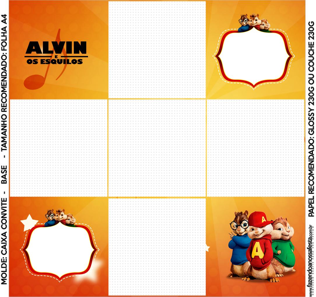 Caixa Bombom Alvin e os Esquilos
