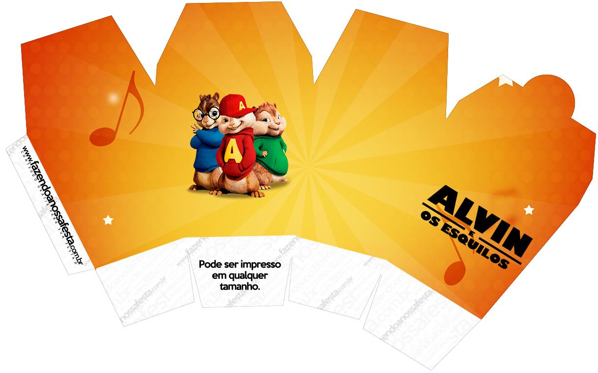 Caixa China in box Alvin e os Esquilos