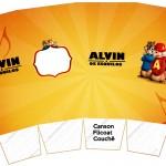 Caixa Pipoca Alvin e os Esquilos