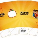 Caixa Pipoca Alvin e os Esquilos Desenho