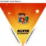 Caixa Piramide Alvin e os Esquilos Desenho