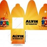 Caixa com Foto Alvin e os Esquilos