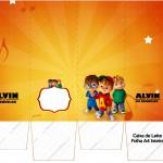 Caixa de leite Alvin e os Esquilos Desenho