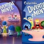 Capa Livrinho para Colorir Divertida Mente Disney