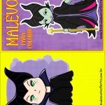 Capa Livrinho para Colorir Malevola