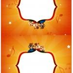 Cartão Agradecimento de Mesa Alvin e os Esquilos