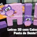 Como fazer Letras 3D com Pasta de Dente