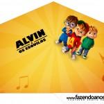 Cone Guloseimas 4 lados Alvin e os Esquilos Desenho