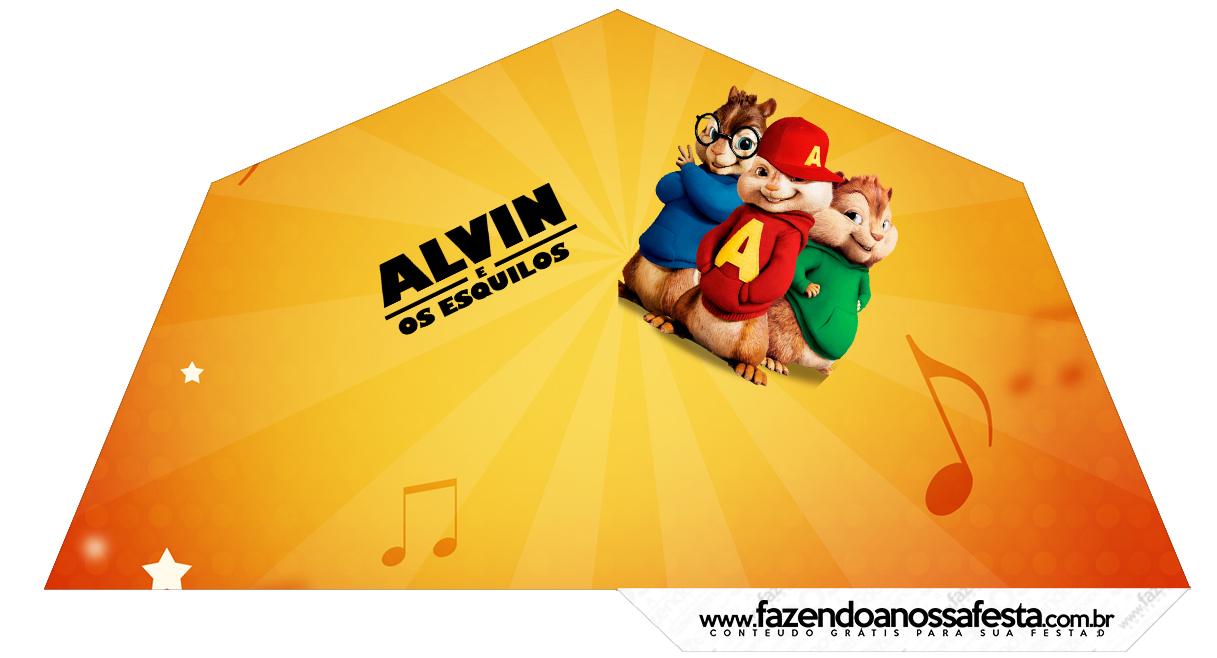 Cone Guloseimas 4 lados Alvin e os Esquilos