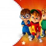 Convite 3 Alvin e os Esquilos Desenho