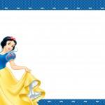 Convite Branca de Neve Azul