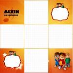 Convite Caixa Fundo Alvin e os Esquilos Desenho