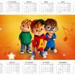 Convite Calendário 2016 Kit Festa Alvin e os Esquilos Desenho