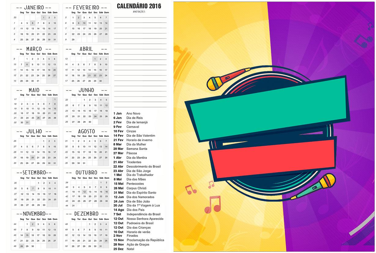 Convite Calendario 2016 2 Cumplices de um Resgate