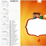 Convite Calendario 2016 Alvin e os Esquilos Desenho