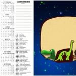 Convite Calendario 2016 O Bom Dinossauro
