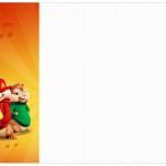 Convite, Cardapio ou Cronograma em Z Alvin e os Esquilos