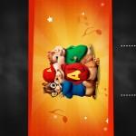 Convite Chalkboard Alvin e os Esquilos