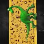 Convite Chalkboard O Bom Dinossauro