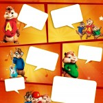 Convite Gibi Alvin e os Esquilos