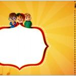Convite Ingresso Alvin e os Esquilos Desenho