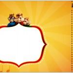 Convite Ingresso Kit Festa Alvin e os Esquilos