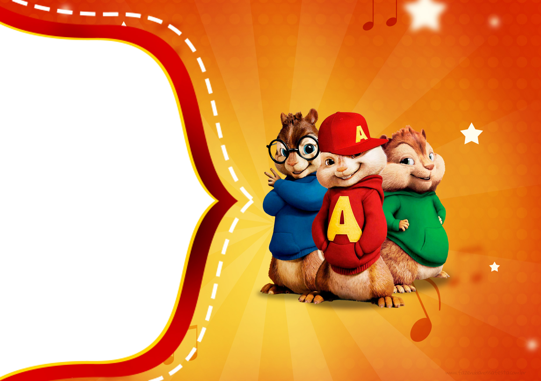 Convite Kit Festa Alvin e os Esquilos