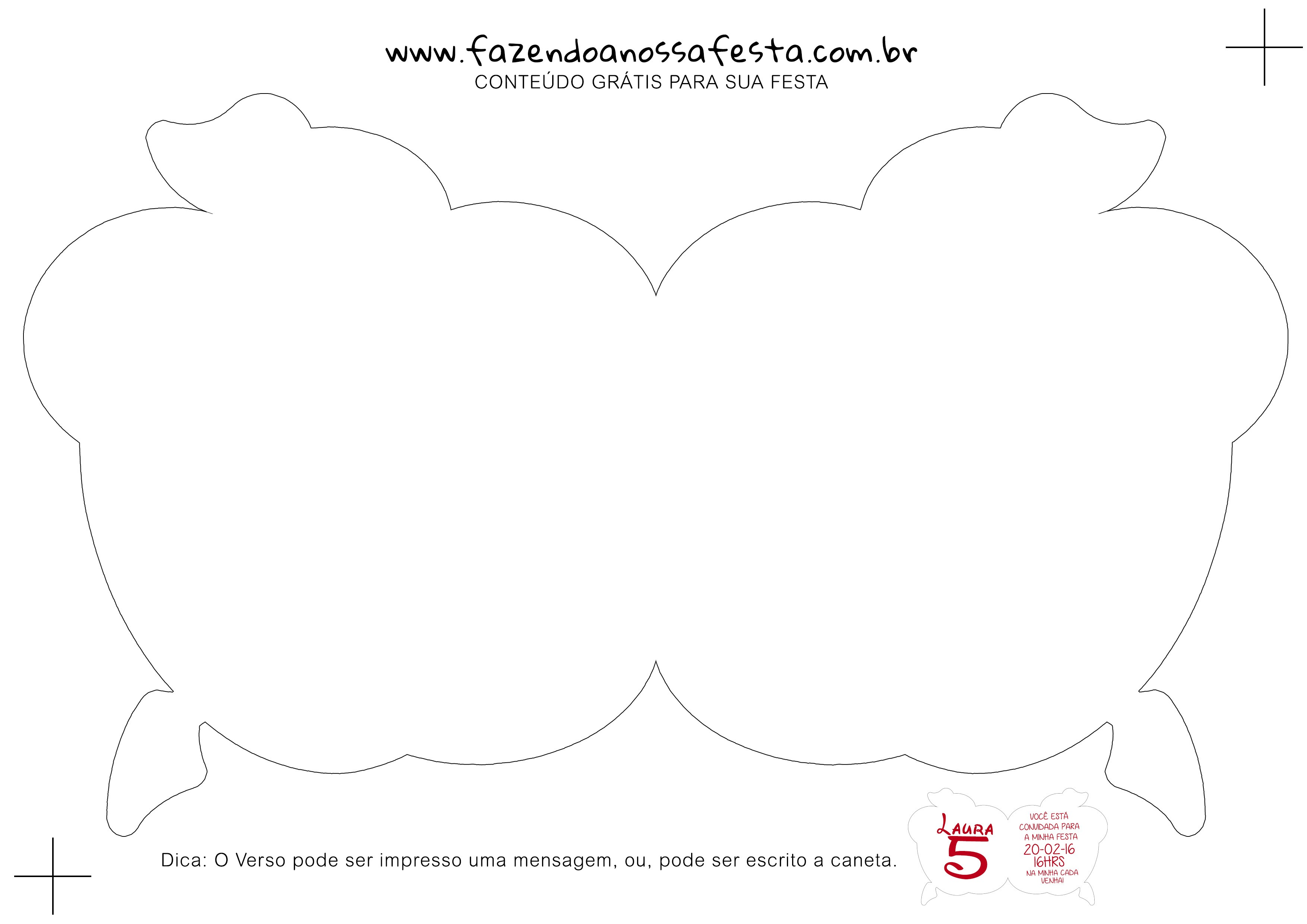 Convite Descentes Dobrável estilo Maça - Verso
