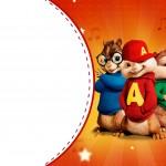 Convite, Moldura ou Cartao Alvin e os Esquilos