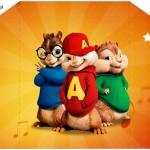 Convite com Envelope Alvin e os Esquilos