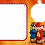 Convite com foto Alvin e os Esquilos