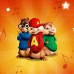 Convite ou Cartão Alvin e os Esquilos
