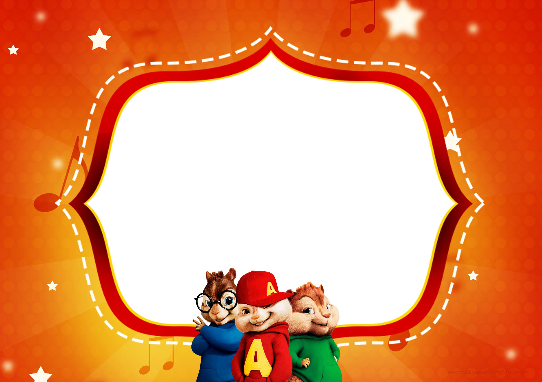 Convite ou Cartao para festa Alvin e os Esquilos