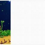 Convite,Cardapio ou Cronograma em Z O Bom Dinossauro