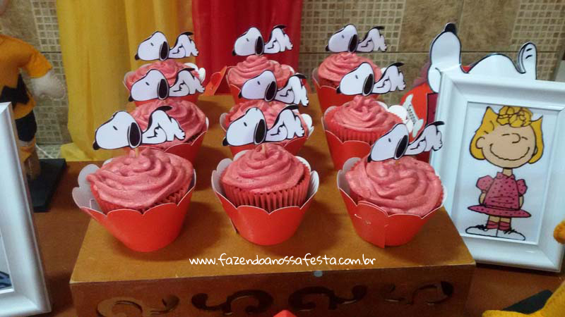 Cupcakes Festa Snoopy do Pedro